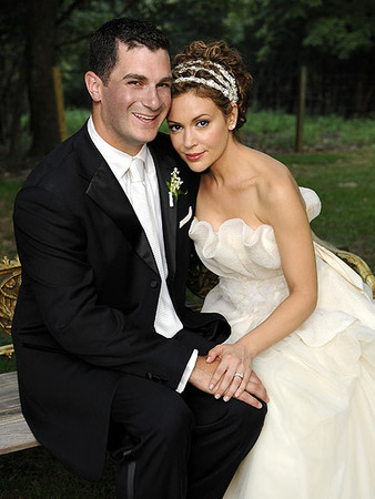 Alyssa Milano with friendly, Husband Dave Bugliari