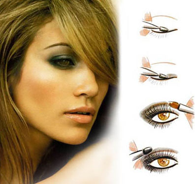 For smoky eyes, make up
