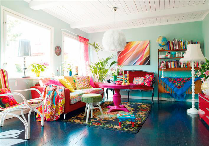 amazing living room interior colors | Bright colors for a bright home