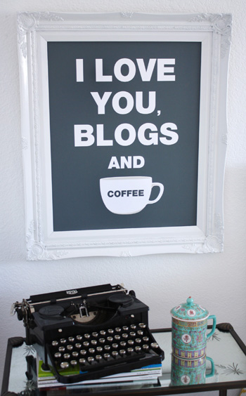 i love you,blog and coffee