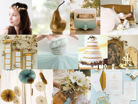 SnippetandInk-pale-blue-gold-autumn-pear-rosettes-wedding-inspiration-board