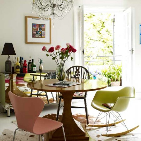 eclectic glamour-dining-room
