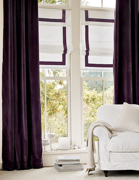 Color+Inspiration: Purple | creamylife blog - Purple Curtains Ikea