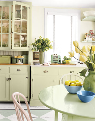 Kitchen-cabinet green