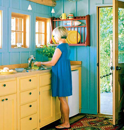 Bright Colors In The Kitchen