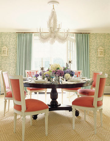 Color inspiration coral for Dining room colour inspiration