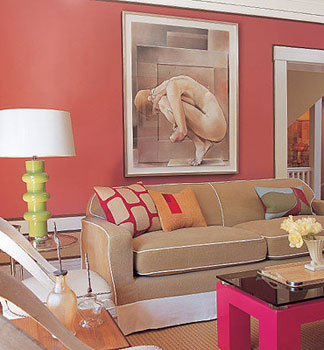 Coral Wall Paint Color