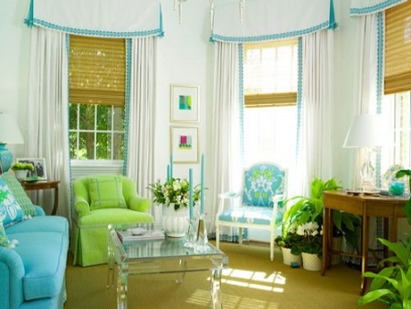 Color inspiration blue green for Green and blue living room decor