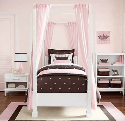pink brown bedroom