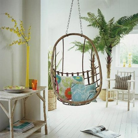 Indoor hanging chairs - Indoor hanging egg chair for bedroom ...