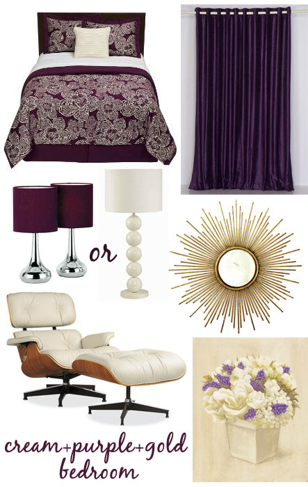 Black gold and purple bedroom images Purple and gold bedrooms