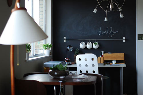 Chalkboard Black Walls