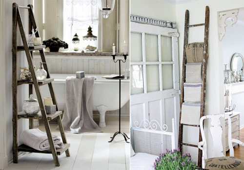 Decorating with ladders for Decor ladder