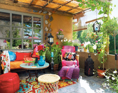 Bohemian Style Backyards : How did you decorate your patio? Please share your thoughts )