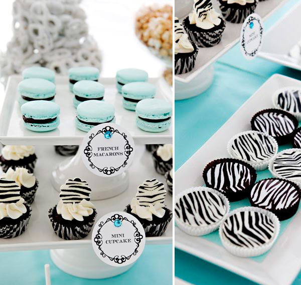 Dessert Table: Tiffany Blue+zebra