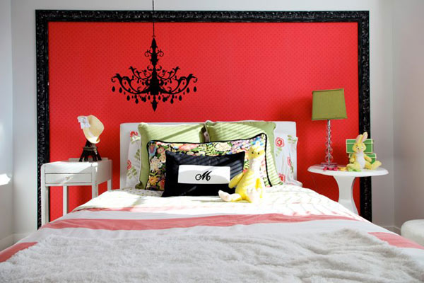 red bedroom walls