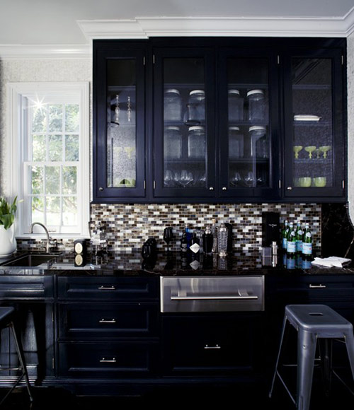 Gloss Black Kitchen Pelmet