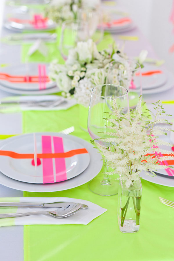 Neon Table Decorations