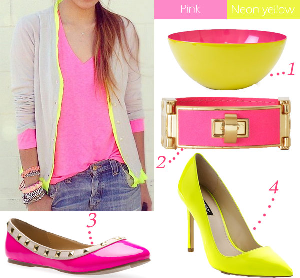 Color Inspiration Pink Neon Yellow