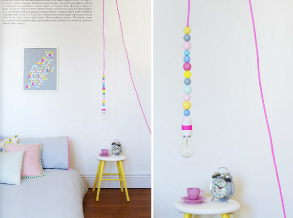 bead light for a bedroom or a reading nook this easy diy project
