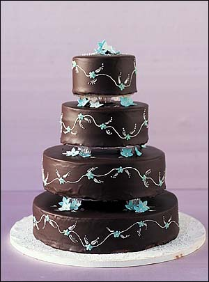 blue and brown wedding cakes simply delicious 11942